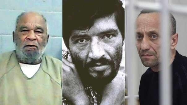 Samuel Little (EE.UU.), Pedro Alonso López Monsalve (Colombia) y Mijaíl Popkov (Rusia), tres de los asesinos seriales con mayor número de víctimas en las últimas décadas.