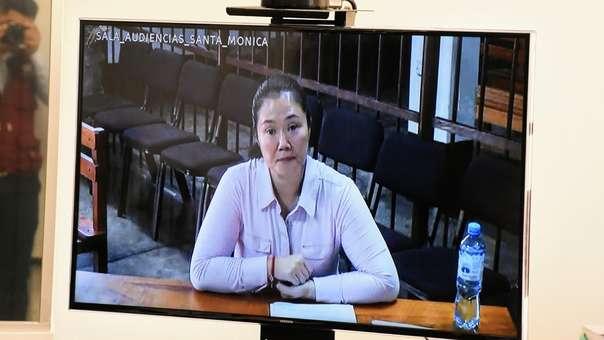 Keiko Fujimori cumple una orden de 36 meses de prisión preventiva.