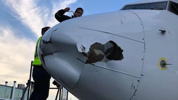 Aeroméxico confirmó el incidente, que no causó problemas para el descenso del avión.
