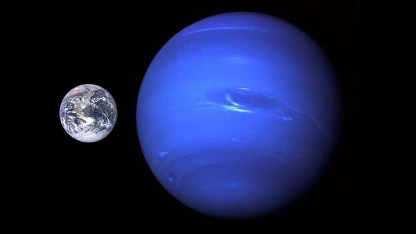 Vista de Neptuno, planeta del Sistema Solar por el que los 'Neptunos calientes' son nombrados.