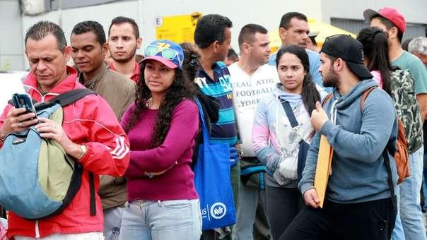 Hay alrededor de medio millón de venezolanos en el Perú.