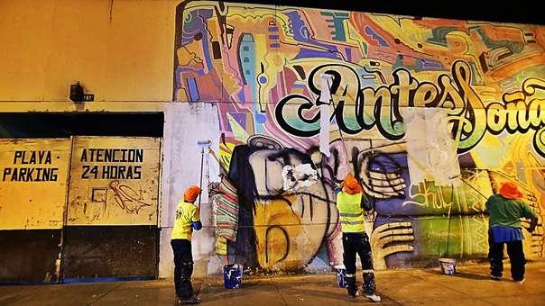Los murales fueron borrados por la gestión de Luis Castañeda