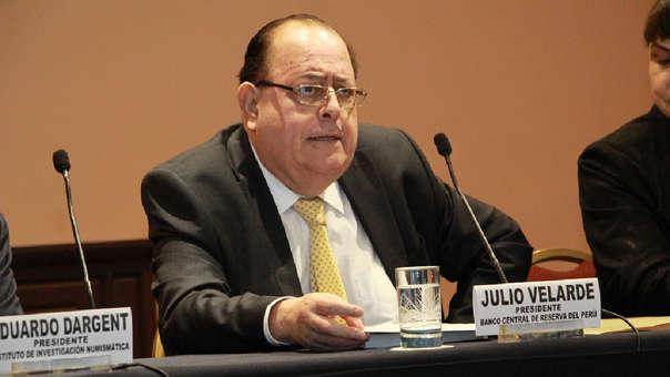 El presidente del BCR, Julio Velarde, presentó el último Reporte de Inflación de diciembre.