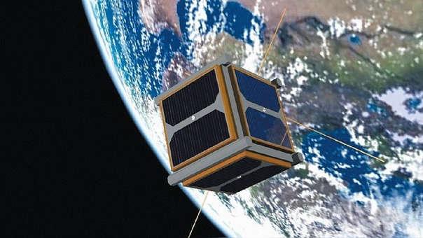 Imagen referencial del PUCP SAT-1, el primer satélite peruano.