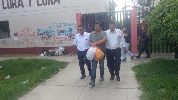 Isías Merino siendo trasladado al penal de Chiclayo