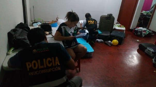 El  operativo estuvo a cargo de la fiscal Lianna Saavedra Inga, titular de la Fiscalía Provincial Anticorrupción.