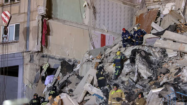 RUSSIA-ACCIDENT-EXPLOSION-GAS