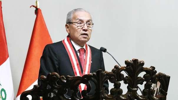 Pedro Chávarry se pronunció tras destituir a los fiscales Vela y Pérez.