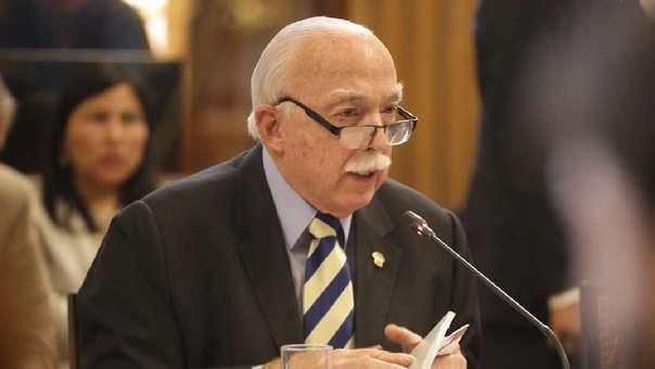 El vocero también se refirió a las declaraciones de la congresista Luz Salgado.