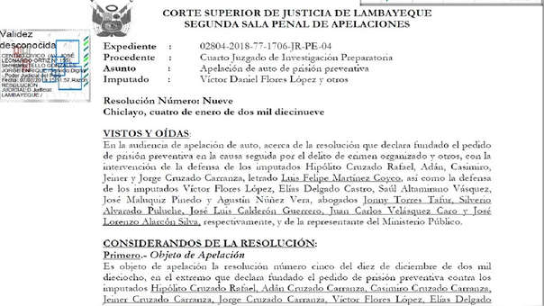 La Segunda Sala de Apelaciones confirmó resolución de primera instancia