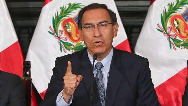 Martín Vizcarra hizo el anuncio durante un pronuciamiento en Palacio de Gobienro