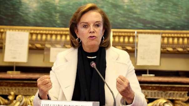 Luisa María Cuculiza, exministra de la Mujer.