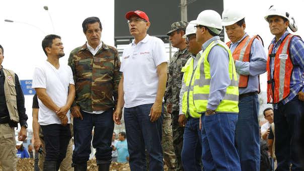 El presidente se encontraba en Jicamarca inaugurando obras de alcantarillado.