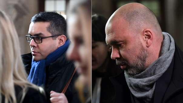 Antoine Q. (izquierda) y Nicolás R. (derecha), los policías acusados.