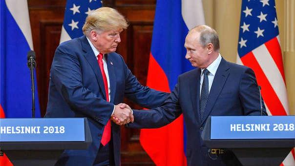 Donald Trump y Vladímir Putin soy presidentes de EE.UU. y de Rusia, respectivamente.