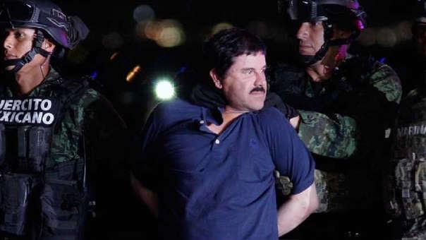 El 'Chapo' Guzmán en manos del Ejército de México.