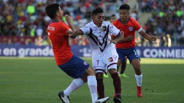 Venezuela venció por 2-1 a Chile en la segunda fecha del Sudamericano Sub 20.