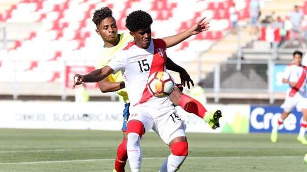Perú perdió por 3-1 ante Ecuador ante Ecuador en el Sudamericano Sub 20.
