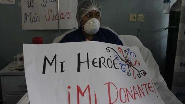 Mujer recibió órgano de bombero fallecido