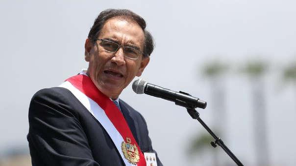 El mandatario participó en ceremonia central por 100 años de las Fuerzas Aéreas del Perú.