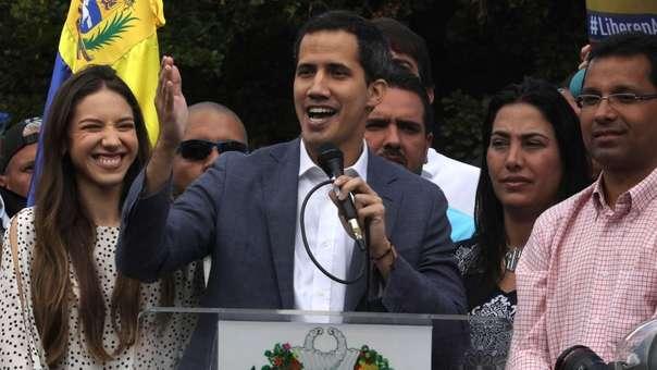 Juan Guaidó durante una acto público.