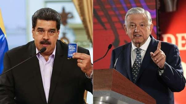 Nicolás Maduro y Andrés Manuel López Obrador