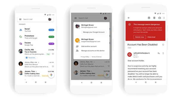 Los usuarios de aplicaciones de Google tendrán una experiencia más uniforme con el nuevo Gmail.