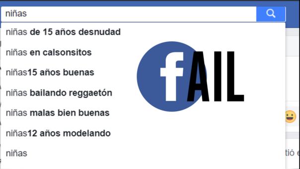 Facebook resalta estos resultados cuando buscas la palabra