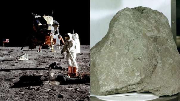 Un estudio sugiere que una de las rocas traidas desde la Luna a la Tierra es en realidad es un pedazo de nuestro propio planeta que fue a parar a nuestro satélite hace millones de años.