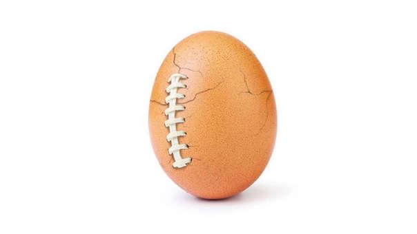 Así lucía el huevo antes del #SuperBowl2019