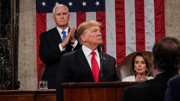 Donald Trump durante su discurso de este martes.