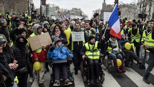 Las protestas contra el gobierno de Macron se vienen realizando desde noviembre pasado.