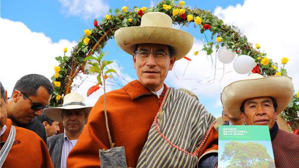 Martín Vizcarra durante una visita a Cajamarca