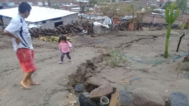 Viviendas afectadas en distrito de Quequeña