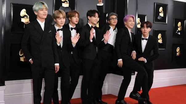 BTS en los Grammy 2019.