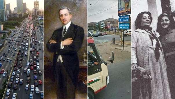 A la izquierda: la avenida Javier Prado y Javier Prago y Ugarteche. A la derecha: el cruce entre las avenidas Angélica Gamarra y Universitaria y una foto de Angélica Gamarra con su hija, del mismo nombre.
