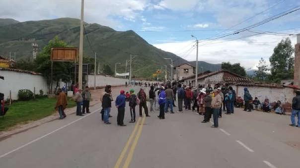 Acceso al Valle Sagrado de Los Incas también fue bloqueado.