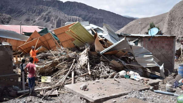 Mirave, en Tacna, una de las zonas afectadas por las lluvias