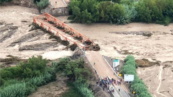 El puente Montalvo colapsó tras desborde del río.