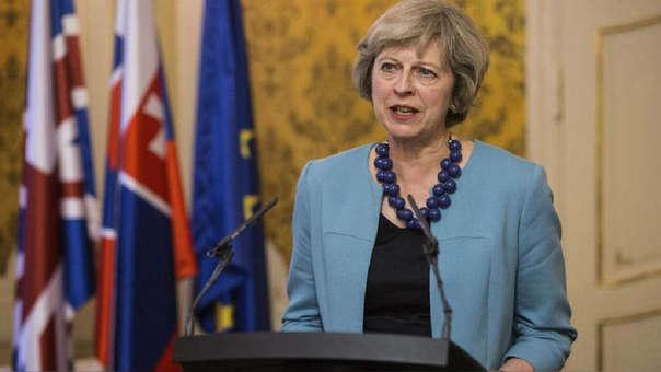 Theresa May, primera ministra de Reino Unido.