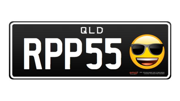 Así se verán las patentes implementadas por el gobierno australiano cuando se permita colocar un emoji en las placas