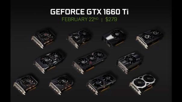 Los precios de la GTX 1660 Ti variará entre los $279 hasta los $300 en Estados Unidos.