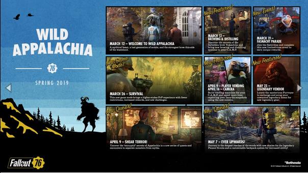 Wild Appalachia es la primera expansión de Fallout 76 del 2019.