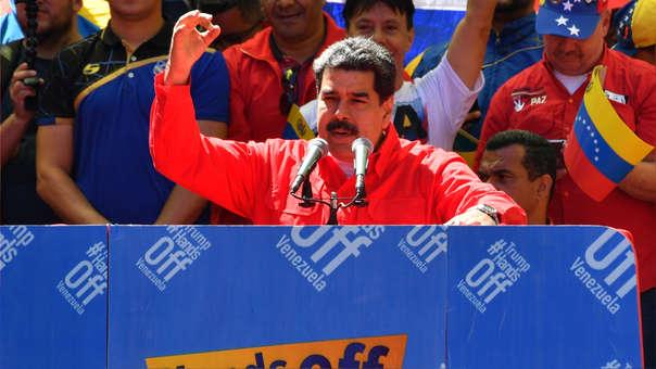 VENEZUELA-CRISIS-MADURO-SUPPORTERS-DEMO