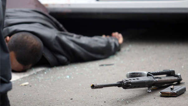 El delincuente fallecido contaba con antecedentes penales. (Imagen referencial)