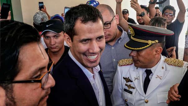 El presidente interino de Venezuela aterrizó en el Aeropuerto Internacional de Maiquetía.
