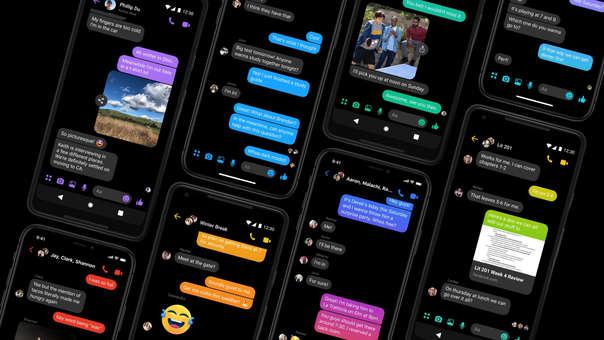 Facebook Messenger empezó a habilitar el Modo Oscuro este lunes.