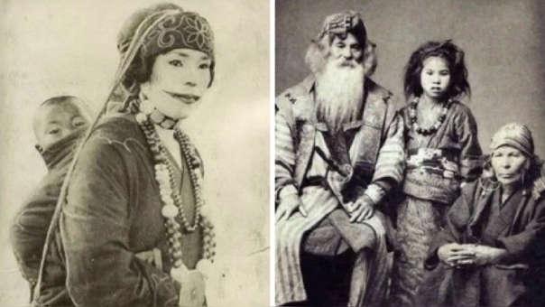 Miembros del pueblo ainu