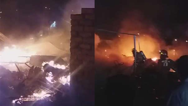 Incendio en El Porvenir