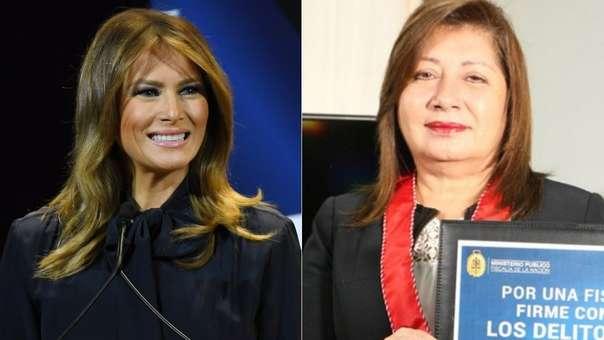 Melania Trump y la fiscal peruano Flor de María Vega Zapata